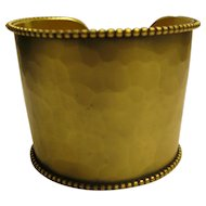 Vintage 1980's Signed Yves Saint Laurent Gold Tone Wide Cuff