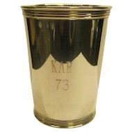 Vintage Sterling Silver Mint Julep Cup Monogrammed