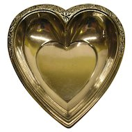 Signed International Sterling Silver Heart Shaped Dish