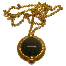 Vintage 1980's Signed Lanvin Germany Pendant Necklace