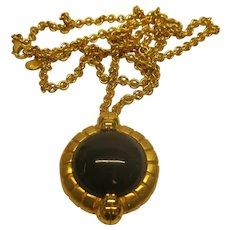 Vintage 1980's Signed Lanvin Germany Pendant Necklace