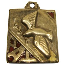 Vintage Signed Chapel Sterling Dove Of Peace Pendant Charm