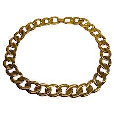 Vintage Signed Napier Gold Tone Metal Link Necklace