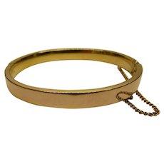 Vintage Signed BALLOU 12K Gold Filled Bangle Bracelet