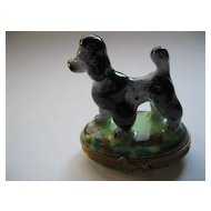 Black & Gray French Poodle Limoges Box