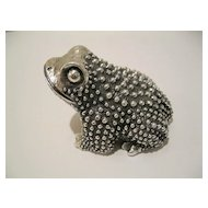 Vintage Sterling Silver Frog Figurine--130 Grams