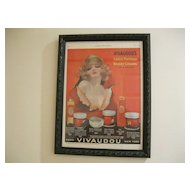 Vintage 1924 Framed Mavis Vivaudou Original Ladies Home Journal Ad--Artist Henry Clive