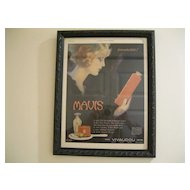 Vintage 1921 Mavis Vivaudou Original Ladies Home Journal Ad- Artist Fred L. Packer