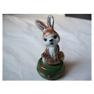 Limoges Signed Hand Painted Easter Bunny Box
