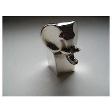 Dansk Silverplate Elephant By Gunner Cyren Made in Japan