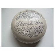 Natural Stone Thank You Paperweight Made in Great Britain