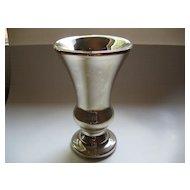 Large Vintage Silver Mercury Glass Vase
