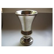 Large Vintage Silver Mercury Glass Vase