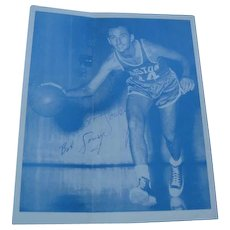 Signed 1960 Bob Cousy Boston Celtic Basketball Player in Original mailing Envelope
