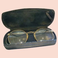28303d4e3ffa Vintage Pince Nez Gold Filled Shuron Ladies Eyeglasses with Chain ...