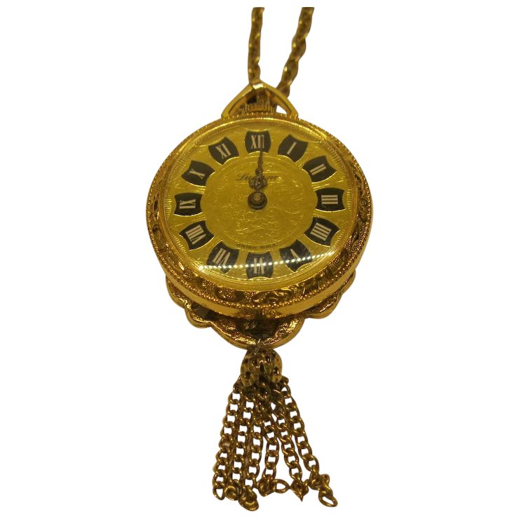 Vintage lucerne wind up watch necklace pendant swiss made tells time vintage lucerne wind up watch necklace pendant swiss made tells time aloadofball Image collections