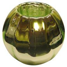 Rare Light Green Czech Art Deco Mercury Glass Vase