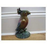 Vintage Parrot Cast Iron Doorstop