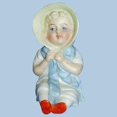 Antique German Bisque Sitting Kate Greenaway Doll Figure