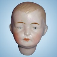 Antique German Bisque Boy P Doll Socket Head