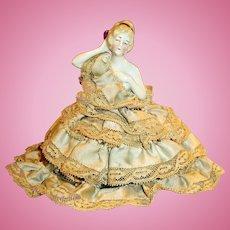 Antique 6348 German China Pincushion Half Doll