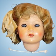 Antique German Turtle Mark Celluloid Doll Head