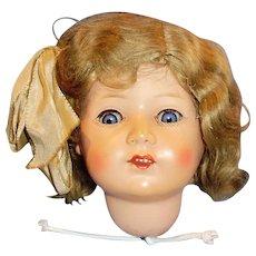 Antique German Turtle Mark Celluloid Doll Head