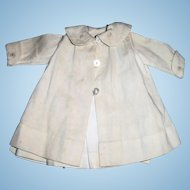 Two Piece Outfit Antique White Cord Doll Dress And Coat