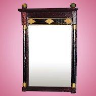 Vintage Inlaid Wooden Dollhouse Mirror FAO Schwarz
