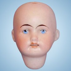 Antique German Painted Eye Bisque Socket Doll Head 50