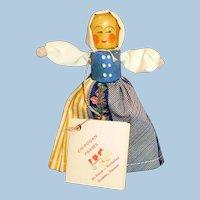 Vintage Historical Costume Wood Doll Chipogan Farms Canada