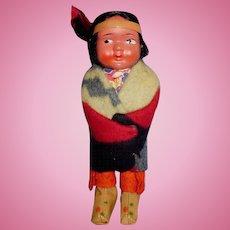 Vintage Child Size Composition Face Skookum Doll