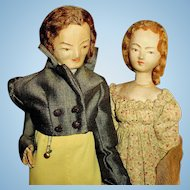 Hand Made Vintage Cloth Victorian Attire Dressed Dolls