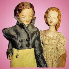 Hand Made Vintage Cloth Victorian Attire Dressed Dolls