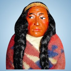 12 Inch Vintage Skookum Dressed Bully Good Indian Doll