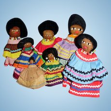 Vintage Florida Seminole Native American Indian Dolls