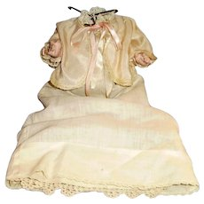 Antique German Dressed Composition Five Piece Bent Limb Baby Doll Body - Red Tag Sale Item