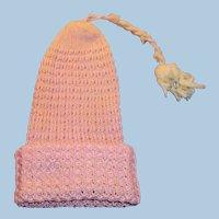 Antique Pink Cotton Knit Cap