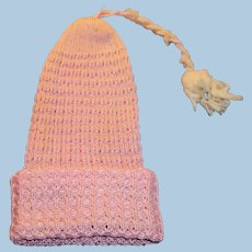Antique Pink Cotton Knit Cap