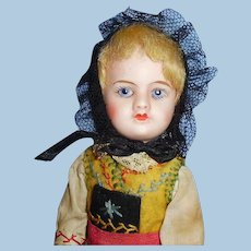 8 Inch Antique French SFBJ 60 Bisque Head Doll