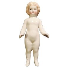 Antique German Blond China Frozen Charlotte Doll - Red Tag Sale Item
