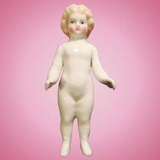 Antique German Blond China Frozen Charlotte Doll