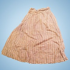 Antique Hand Stitched Cotton Print 1860 Doll Skirt