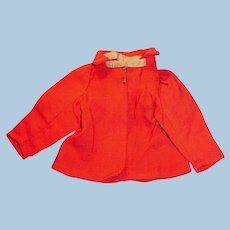 Antique Red Wool Doll Jacket