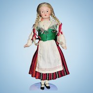 Vintage Finnish Martta Doll All Original Kirkonommi Costume