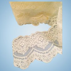 Vintage White Scallop Edge Machine Lace