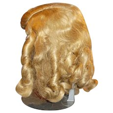 Size 12 Honey Blond Vintage Long Curl Mohair Doll Wig