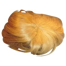 Antique German Blond Human Hair Baby Toddler Doll Wig