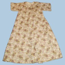 Antique Lavender Paisley Cotton Doll Dress