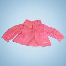 Antique Pink Cotton Flannel Doll Jacket